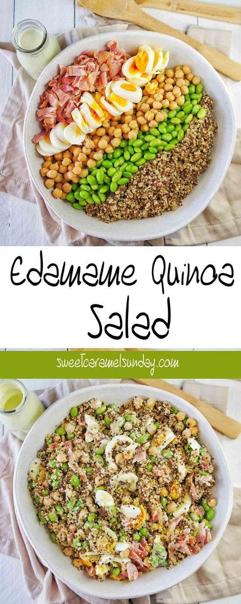 Edamame Quinoa Salad | Sweet Caramel Sunday
