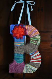Yarn wrapped initial.  Super easy!