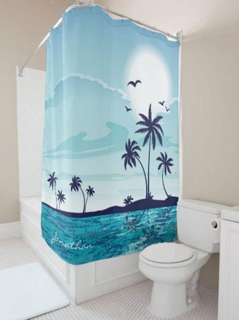 Gift Bathroom Art Bath Decor S 20, Palm Tree Shower Curtains Bath Accessory Sets