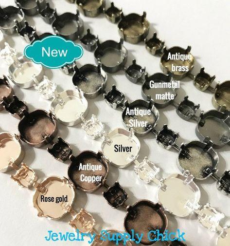 Silver Cufflink Setting Blanks Fits 16mm Cabochon Jewellery Making C6