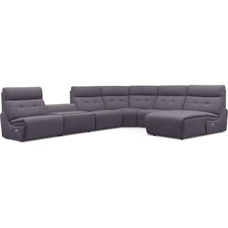 Fine Jett 6 Piece Dual Power Reclining Right Facing Sectional Cjindustries Chair Design For Home Cjindustriesco