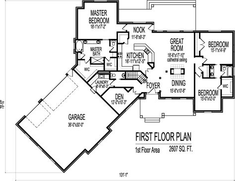 Canted Garage 1 Storey 2600 Sf 3 Bed House Plans