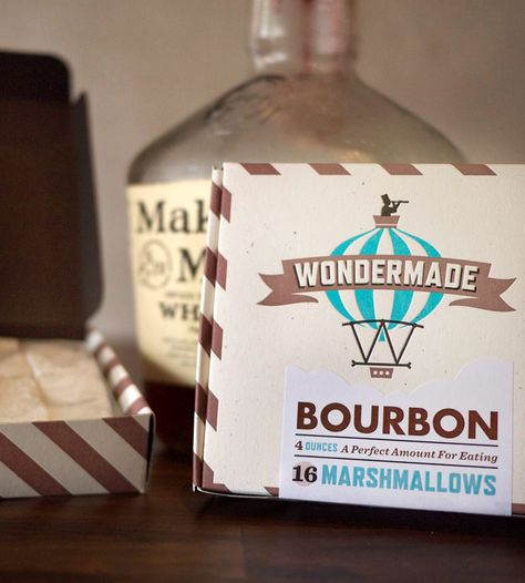Bourbon Marshmallows By Wondermade. Three boxes of pure goodness.