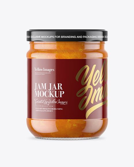 Download Clear Glass Jar With Apricot Jam Mockup In Jar Mockups On Yellow Images Object Mockups Mockup Free Psd Mockup Free Download Mockup Psd PSD Mockup Templates