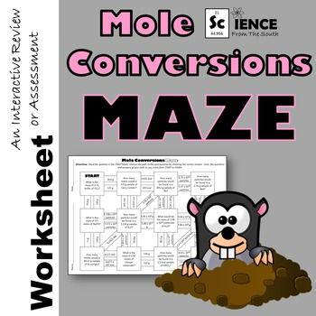 Mole Conversions And Calculations Maze In Print And Digital Distance Learning Mole Conversion Mole Teaching Chemistry