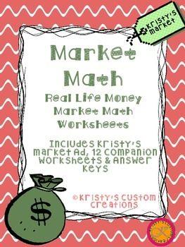 Money Market Math Worksheets Math Worksheets Money Activities Teaching Money Activities