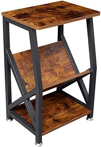 New Nxn Home Industrial Side Table Nightstand End Table Storage