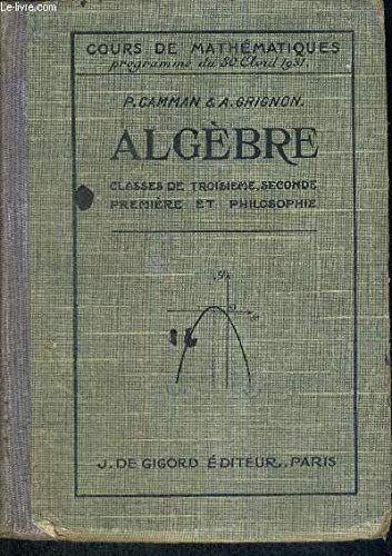 Algebre Classe De 3 Seconde Premiere Et Philosophie