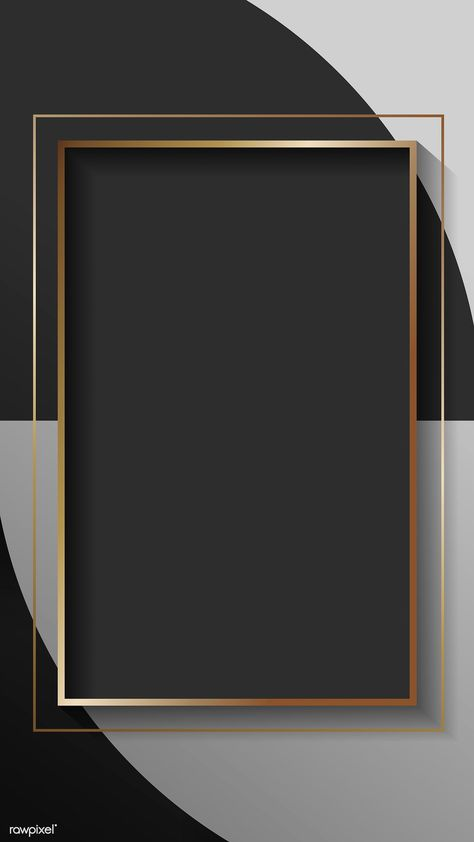 Blank rectangle black abstract frame vector | premium image by rawpixel.com