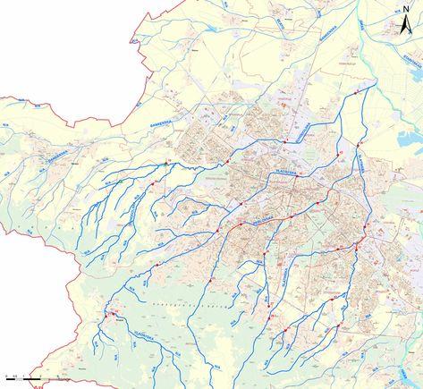 Naprechni Profili Na Reki Gis Sofiya Reka Karta