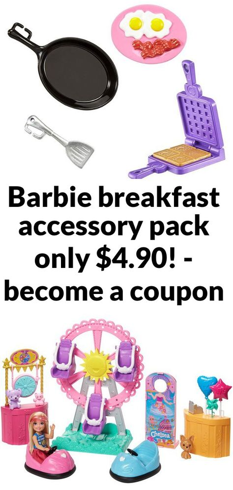 Barbie breakfast accessory pack only .90! - become a coupon queen