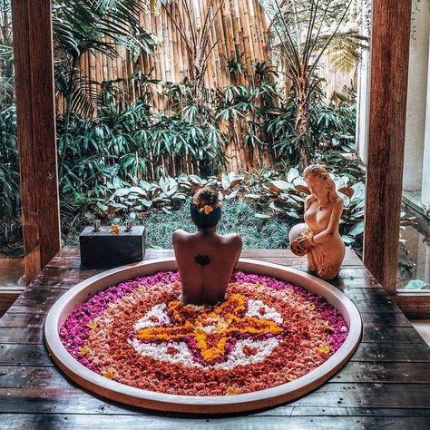 "The Udaya Resorts & Spa on Instagram: ""There is flower bath in Bali and then there is our Celebration of Flowers. Send us your preferred design and we will be happy to design it…"" #indonesia #southeastasia #bali #asia #travel #instagram"