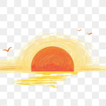 Sunset Sunrise Decoration Painting Everyday Sunrise Sunset Png Transparent Clipart Image And Psd File For Free Download Sunrise Drawing Watercolor Flower Illustration Cartoon Clip Art