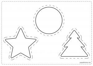 Dibujos De Navidad Para Colorear Y Recortar Hacer Adornos De
