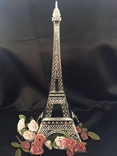 15 Inch 38cm Silver Metal Eiffel Tower Statue Figurine Replica Centerpiece Eiffel Tower Centerpiece Eiffel Tower Decorations Tower Centerpiece