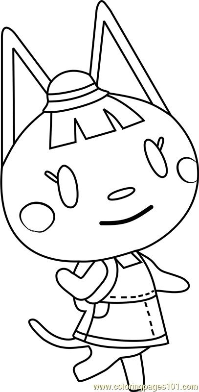 Katie Animal Crossing Colouring Page Animal Crossing New Animal Crossing Animal Coloring Books