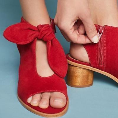 Fringed Metal Buckle Sandals | Heels, Peep toe heels, Chunky