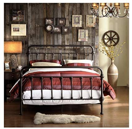 Iron Bed Frame Rustic Bedroom Furniture Wrought Iron Bed Frames