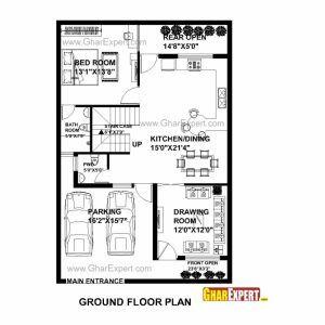 23 45 House Plan House Floor Plan Ideas In 2020 House Plans House Map House Floor Plans