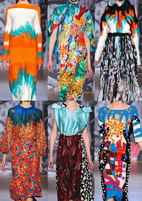 Jayeon Kim's pick: Paris Fashion Week Autumn/Winter Tsumori Chisato A/W Space and Dip-dying – Painterly Illustrative Style – Coral and Sea Creatures – Undersea Gardens – Quirky Mix-ups – Conversational Prints
