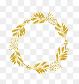 Vector Golden Leaves Wreath Plant Golden Flower Png Transparent Clipart Image And Psd File For Free Download Latar Belakang