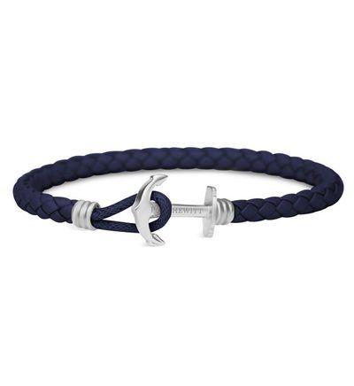 PAUL HEWITT Bracelet Ancre pour Femme en Cuir avec Ancre en Acier Inoxydable Or Rose