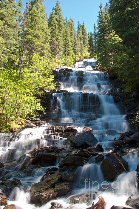 Boulder Pass Falls, Glacier National Park, Montana; photo by Scott Hansen