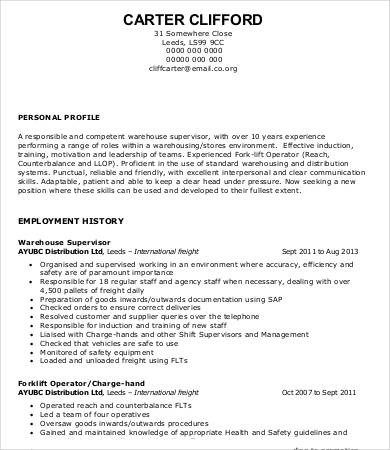 Warehouse Worker Resume 7 Free Sample Example Format Cv Template Cover Letter For Resume Resume