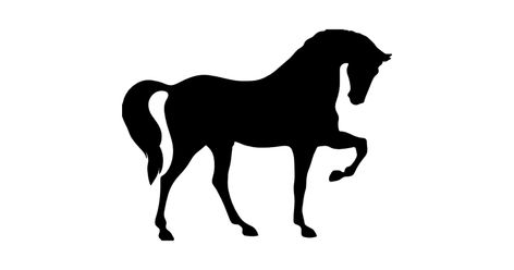 Horse standing on three paws black shape of side view free vector icons designed by Freepik