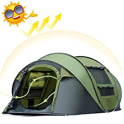 3-4 People Auto Instant Tent Waterproof Camping Hiking Family Shelter   UK