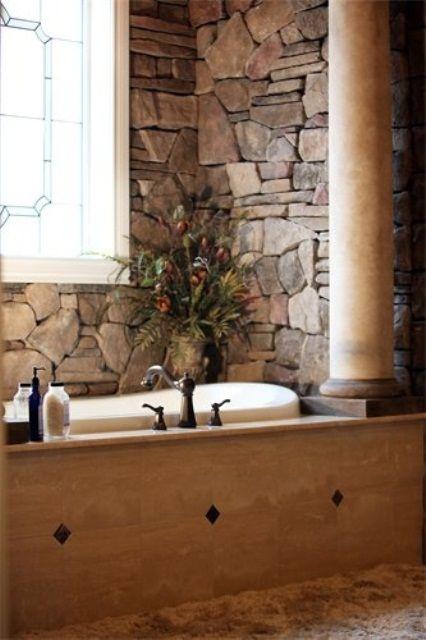 Photographic Gallery stone bathrooms designs Wonderful Stone Bathroom Designs DigsDigs