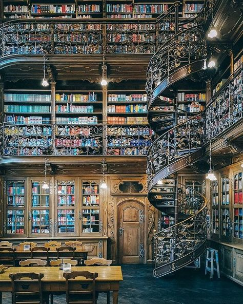 The Italian photographer Massimo Listri's new book The World's Most Beautiful Libraries showcases 55 of the most gorgeous libraries across the globe dating as far back to # Books library Beautiful Library, Dream Library, Library Books, New Books, World Library, City Library, Book Of Kells, World's Most Beautiful, Beautiful Places