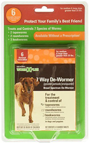 Dog Wormers Sentry Worm X Plus 7 Way Dewormer Large Dogs 6 Count Read More Reviews Of The Product By Visiting The Link On Th Large Dogs Wormer Small Dogs