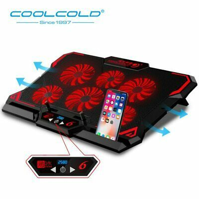 Details About Laptop Cooler 6 Cooling Fan Led Cooling Pad 2 Usb
