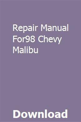 Repair Manual For98 Chevy Malibu Pdf Download Online Full Repair Manuals