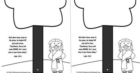 Colouring Page Jesus And Zacchaeus Iglesia Colores Coreanas