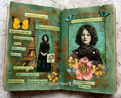 Green Garden altered pages