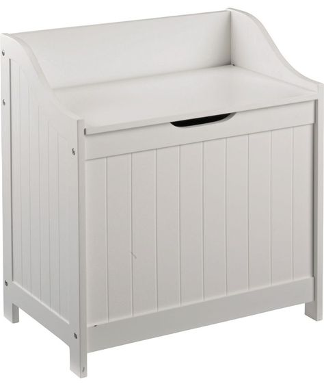 Buy Argos Home 60 Litre Monks Bench Style Laundry Box White