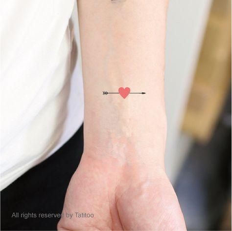 Conçu de coeur flèche, tatouages temporaires, tatouage temporaire, tatouages Z72