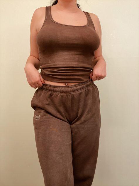 #brown #sweats #dye #dyeing #trendy #clothes #tank #tiktok #sweatpants #follow #follow4follow