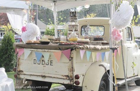 gorgeous truck - decked out vintage cottage style via heather bullard