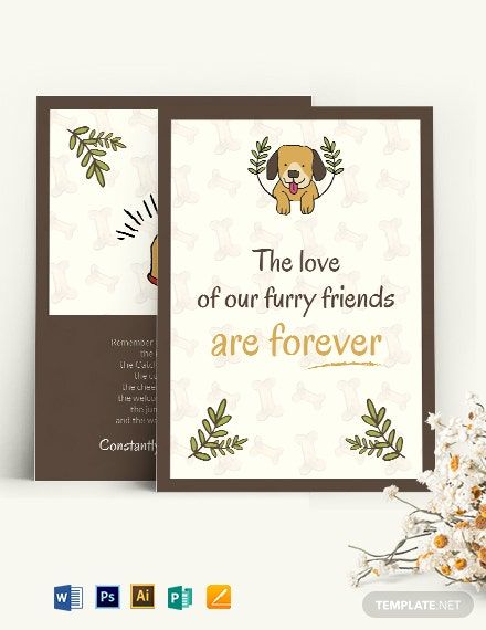 Sympathy Card For Loss Of Dog Template Word Doc Psd Apple Mac Pages Illustrator Publisher Free Printable Greeting Cards Sympathy Cards Sympathy Thank You Cards