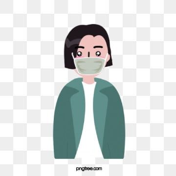 Female Short Hair Flat Character Wearing Mask Female Clipart Woman White Collar Png And Vector With Transparent Background For Free Download Background Patterns Character Illustration Female Shorts