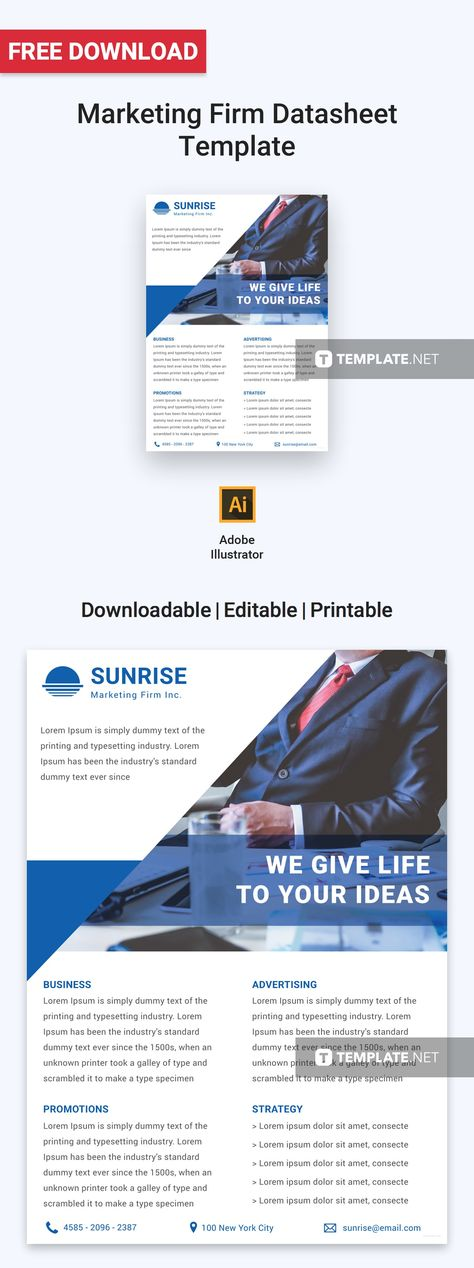 18 best Free Data Sheet Templates images on Pinterest - product spec sheet template