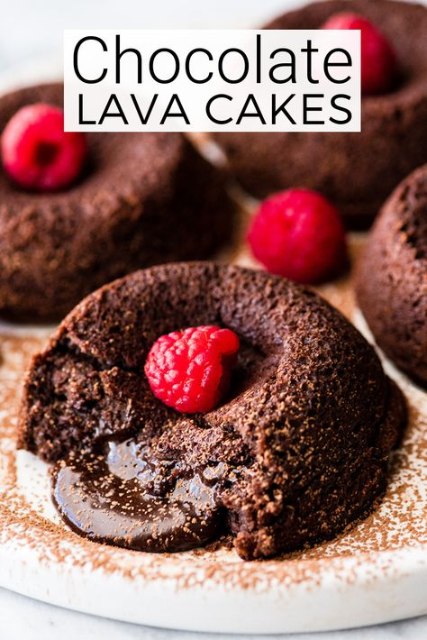 This Easy Molten Chocolate Lava Cake Recipe Is Made With 6