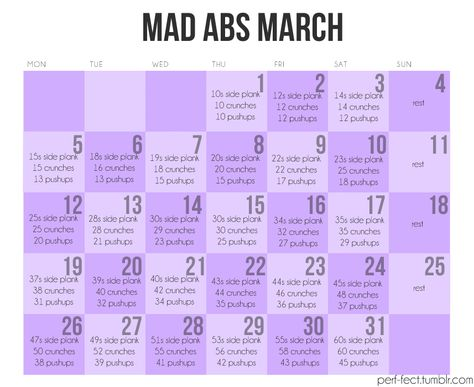 March abs