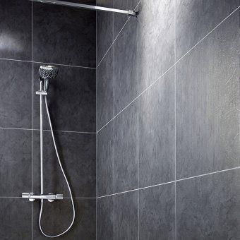 Du Lambris Pvc Sur Les Murs De La Douche Italienne Lapeyre Bathtub Bathroom
