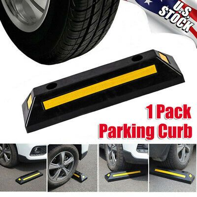 Garage Parking Stop >> Sponsored Ebay 1pcs Garage Parking Curb Wheel Stopper