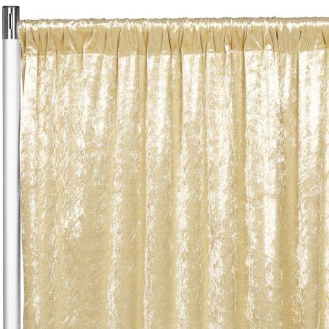Velvet 10ft H X 52 W Drape Backdrop Curtain Panel Champagne Panel Curtains Curtains Velvet Drapes