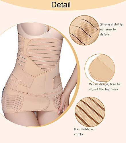 Postpartum Support Recovery Belly Waist//Pelvis Belt Postnatal Body Shaper Wrap
